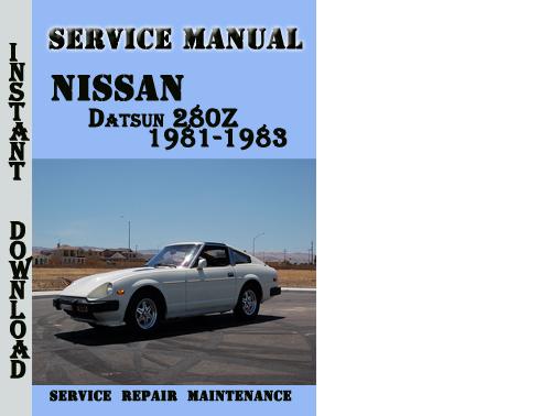 1983 datsun 280zx repair manual