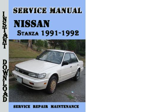 Nissan Stanza 1991-1992 Service Repair Manual Pdf Download