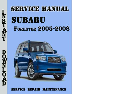 free auto repair manuals 2007 subaru forester parking. Black Bedroom Furniture Sets. Home Design Ideas