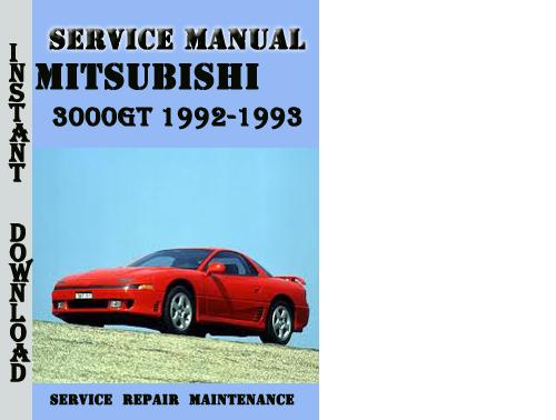 Mitsubishi 3000gt 1992-1993 Service Repair Manual Pdf