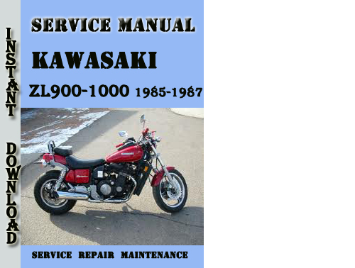 Pay for Kawasaki ZL900-1000 1985-1987 Service Repair Manual