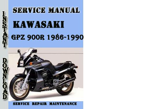 Kawasaki Gpz 900r 1986-1990 Service Repair Manual