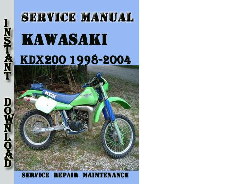 kawasaki kdx200 1998 2004 service repair manual pdf