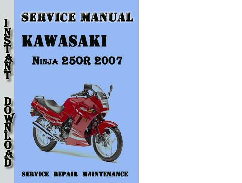 kawasaki ninja 250r 2007 service repair manual pdf download downl rh tradebit com Kawasaki Ninja 500R Kawasaki Ninja 500R