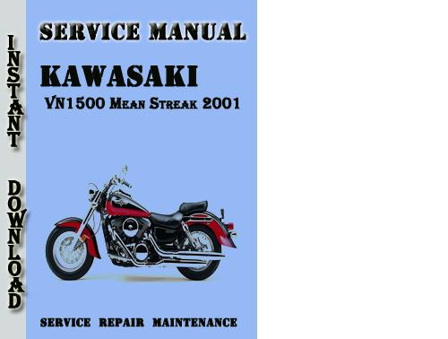 Kawasaki Vn1500 Mean Streak 2001 Service Repair Manual