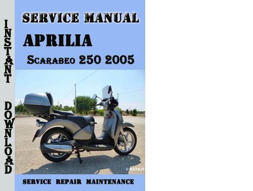 Pay for Aprilia Scarabeo 250 2005 Service Repair Manual