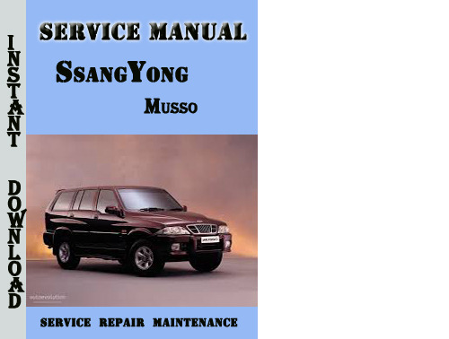 ssangyong musso service manual download manuals technical rh tradebit com 1997 ssangyong musso owners manual ssangyong musso sports service manual