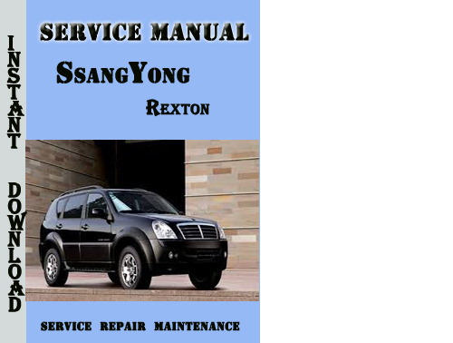 277687381_SsangYongRexton ssangyong rexton service manual download manuals & technical  at n-0.co
