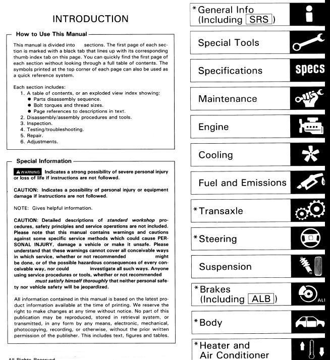 Geo Tracker Service Repair Manual Download 1989-1997