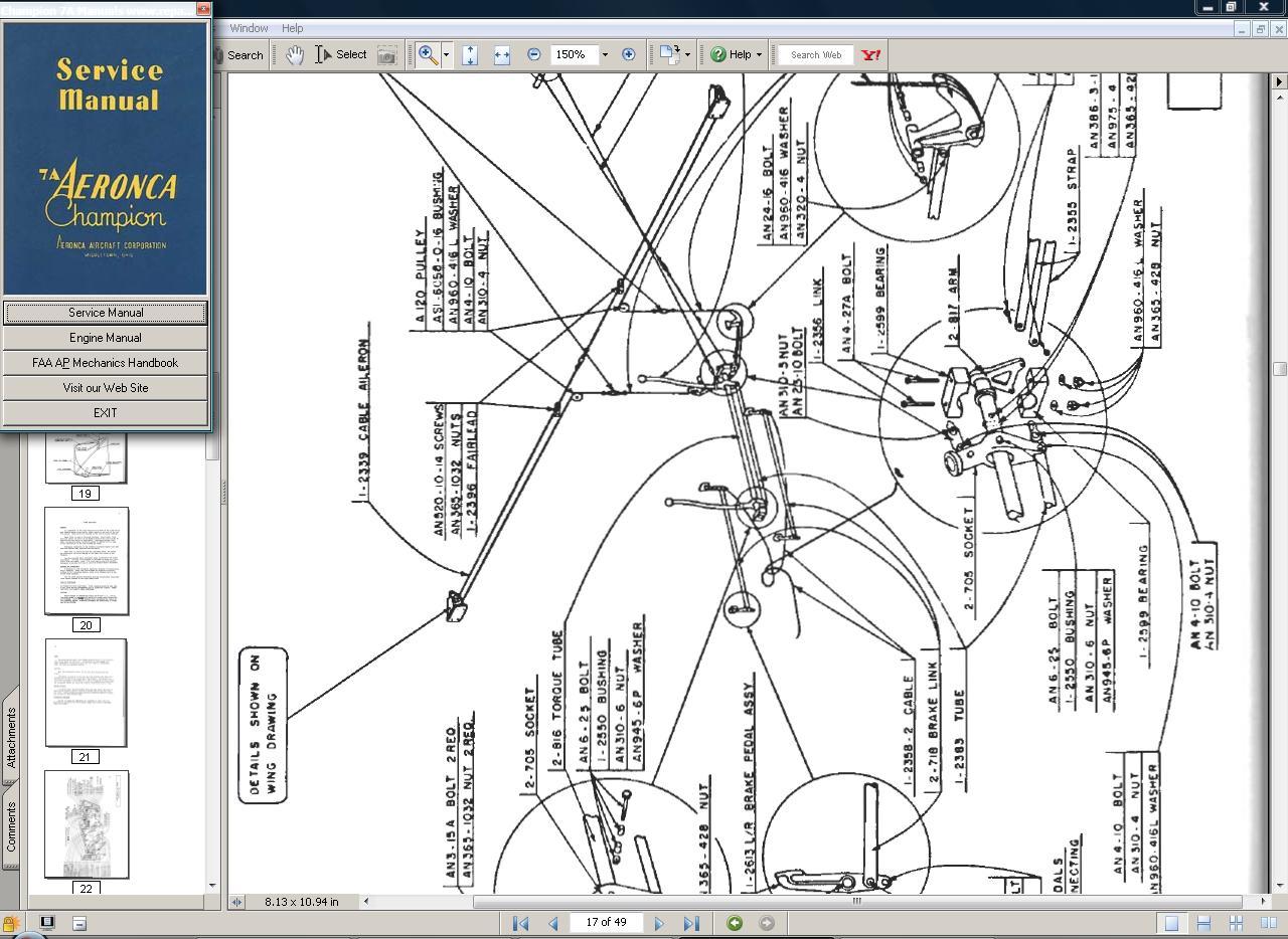 Thumbnail Aeronca 7a champion repair service  manual set + engine