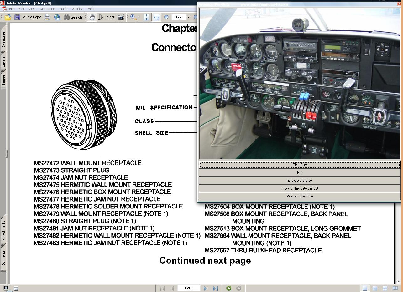 Thumbnail Avionics installation wiring manual pin outs & More