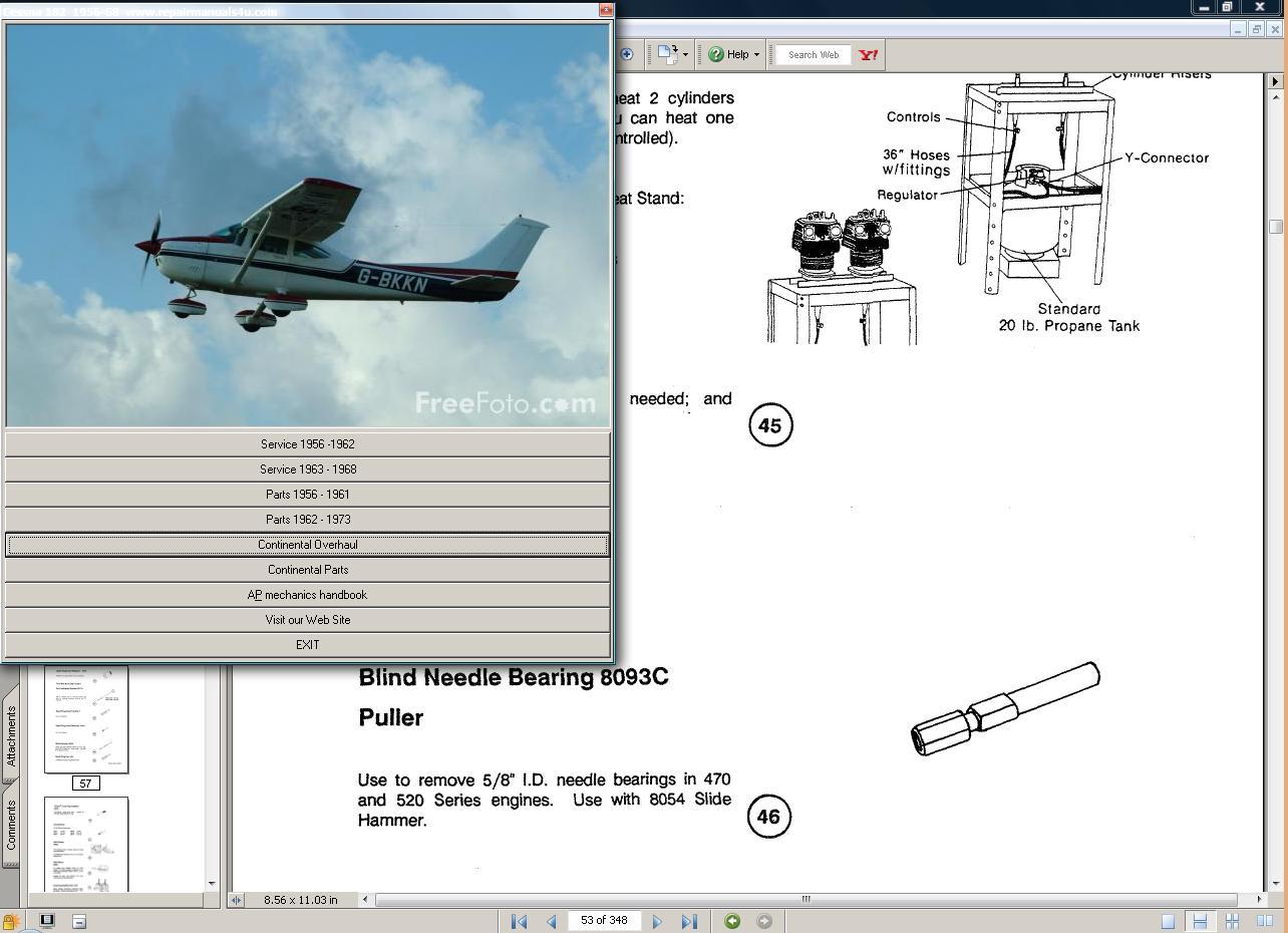 Thumbnail Cessna 182 & Skylane manual set + engine to 1959-1968
