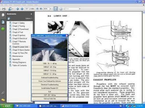 omc johnson evinrude outboard service repair manual 65 300. Black Bedroom Furniture Sets. Home Design Ideas