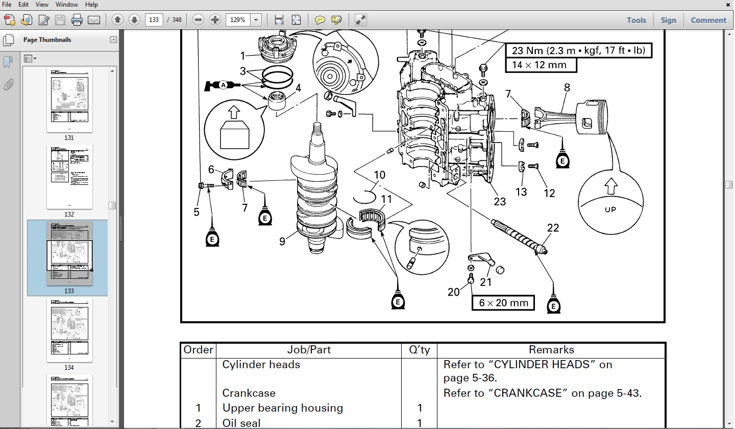 Yamaha Outboard V6 EXCEL XF Service Repair Maintenance Factory Prof.