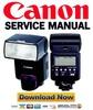 Thumbnail Canon SpeedLIte 550EX Service Manual + Parts List Catalog