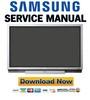Thumbnail Samsung PS-42P2SB PS42P2SB Service Manual & Repair Guide