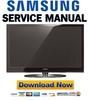 Thumbnail Samsung PS42A457P PS42A457P1D PS42A457P1DXXC Service Manual