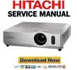 Thumbnail Hitachi CP X200 X300 X400 Service Manual & Repair Guide