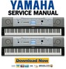 Thumbnail Yamaha DGX-520 + YPG-525 Keyboard Service Manual & Repair Guide