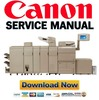 Thumbnail Canon imageRUNNER ADVANCE 8105 8095 8085 PRO Service Manual Repair Guide + Parts List Catalog
