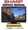 Thumbnail Sharp Aquos LC-46D92U 52D92U Service Manual & Repair Guide