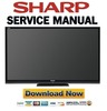 Thumbnail Sharp LC-60LE632U 70LE732U Service Manual & Repair Guide