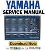 Thumbnail Yamaha MG24 14FX + MG32 14FX Mixing Console Service Manual & Repair Guide
