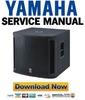 Thumbnail Yamaha MSR800W Subwoofer Service Manual & Repair Guide