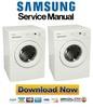 Thumbnail Samsung WF7702NAW + J1471GW Service Manual & Repair Guide