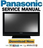 Thumbnail Panasonic TH-37PV8 37PX8BA 42PV8 42PX8 Service Manual & Repair Guide