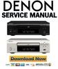 Thumbnail Denon DCD-F107 Service Manual & Repair Guide