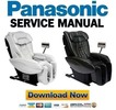 Thumbnail Panasonic EP3222 Massage Chair Service Manual & Repair Guide