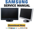 Thumbnail Samsung SyncMaster 215TW Service Manual & Repair Guide