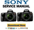 Thumbnail Sony Alpha SLT-A33 + A55 Service Manual & Repair Guide