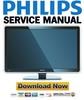 Thumbnail Philips 37PFL9603D 37PFL9603H Service Manual & Repair Guide