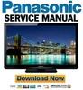 Thumbnail Panasonic TC-L37U3 Service Manual & Repair Guide