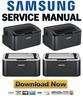 Thumbnail Samsung ML-1860 1861 1865 1866 1867 Service Manual & Repair Guide