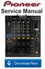 Thumbnail Pioneer DJM-900 Nexus Service Manual & Repair Guide
