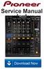 Thumbnail Pioneer DJM-900 Nexus Reparaturanleitung