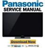 Thumbnail Panasonic TX-P50VT30 Series Service Manual & Repair Guide
