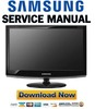 Thumbnail Samsung SyncMaster 2233RZ Service Manual & Repair Guide