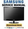 Thumbnail Samsung SyncMaster 2333T Service Manual & Repair Guide