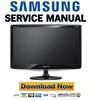 Thumbnail Samsung SyncMaster B2030 Service Manual & Repair Guide