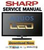 Thumbnail Sharp LC-60LE635E 60LE636E 60LE638E Service Manual & Repair Guide