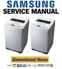 Thumbnail Samsung WA90U7 WA90U7WEP Service Manual and Repair Guide