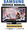 Thumbnail Samsung PN50B400 PN50B400P3D Service Manual and Repair Guide