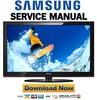 Thumbnail Samsung PN50B430 PN50B430P2D Service Manual and Repair Guide