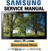 Thumbnail Samsung PN50B550 PN50B550T2F Service Manual and Repair Guide