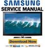 Thumbnail Samsung PN50B650 PN50B650S1F Service Manual and Repair Guide