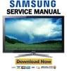Thumbnail Samsung PN50C680 PN50C680G5F Service Manual and Repair Guide